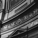 Fine glazed ceramic detailing in the banking hall