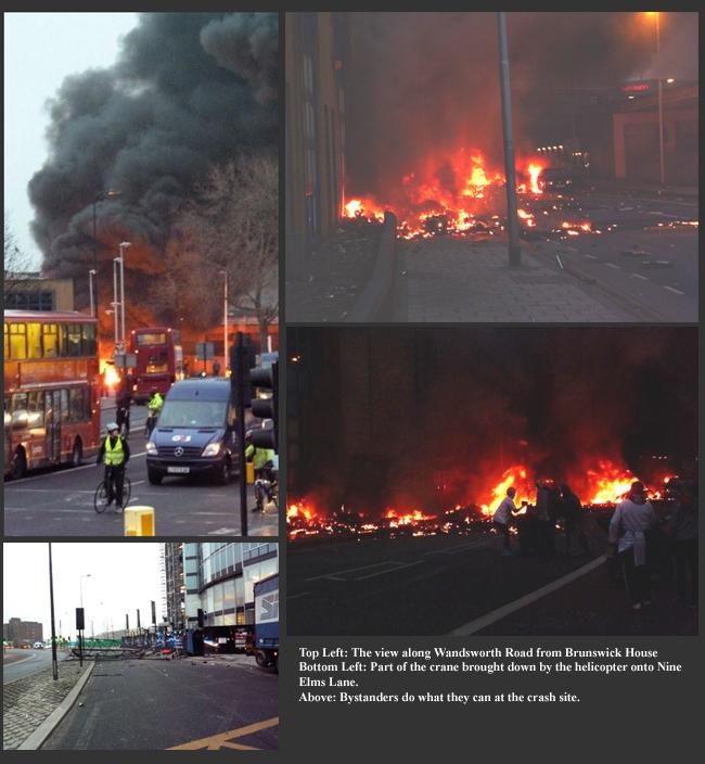 Vauxhall Helicopter Crash January 2013
