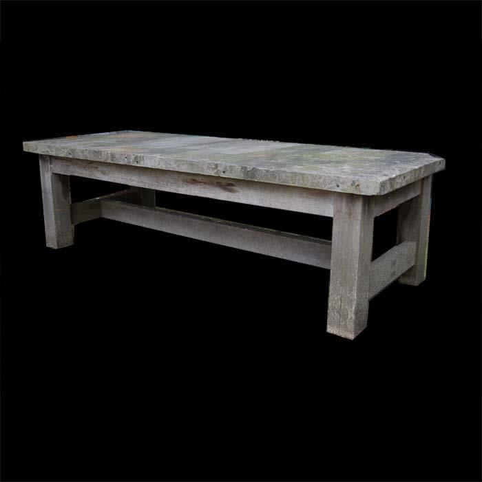 Slate-top coffee table-0