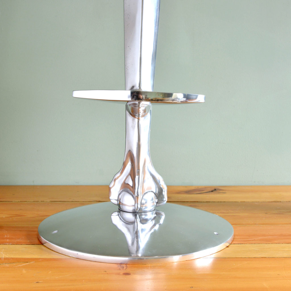 Polished aluminium bar stool bases-89091