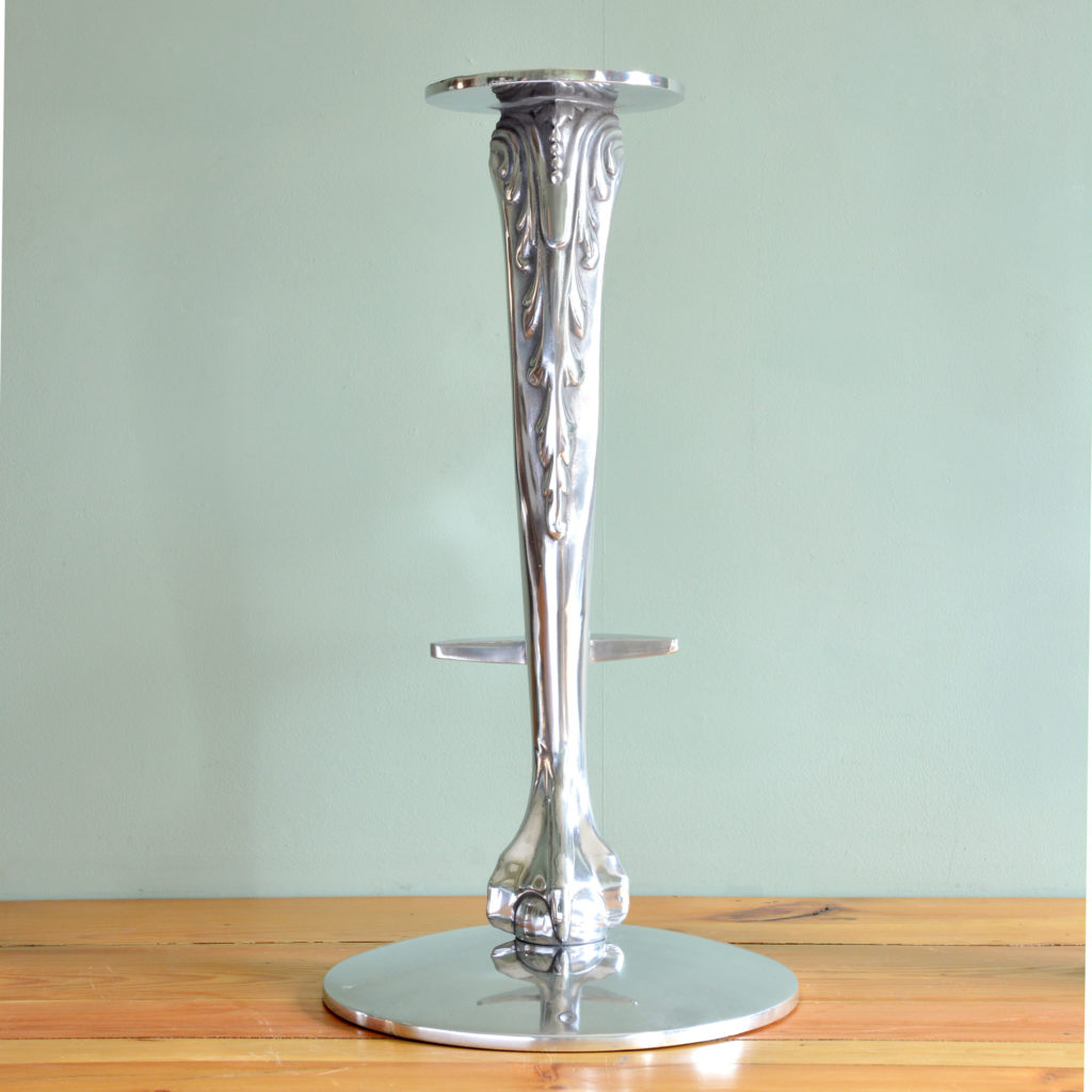 Polished aluminium bar stool bases-89086
