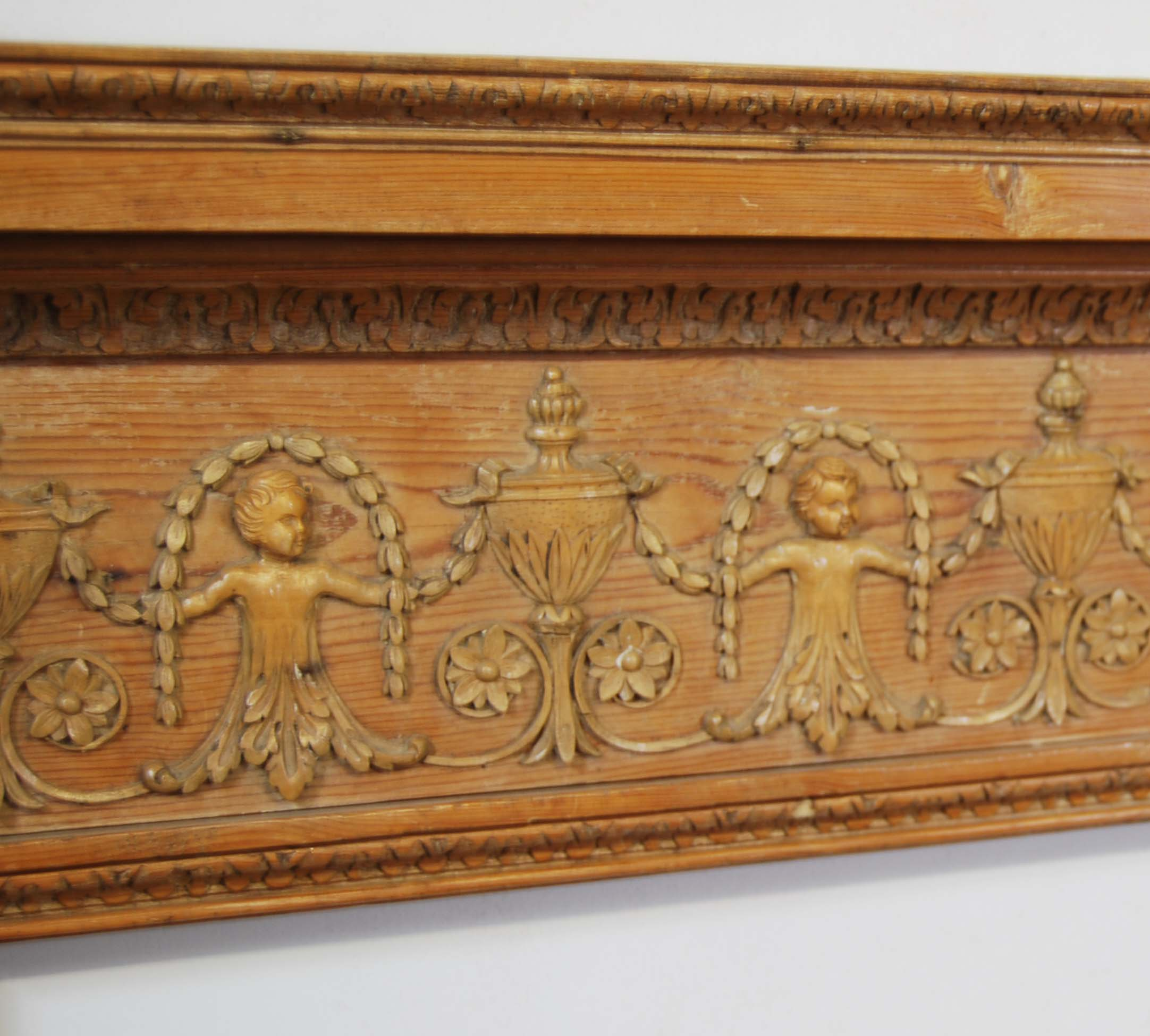 A George III carved pine and limewood fire surround-122760