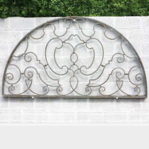 bronze fanlight overdoor