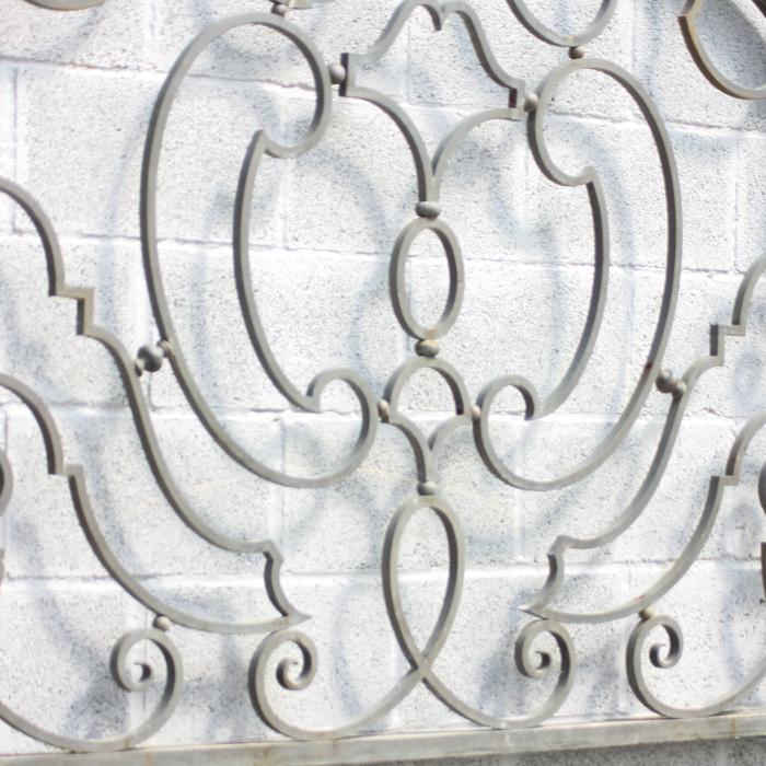 bronze fanlight overdoor