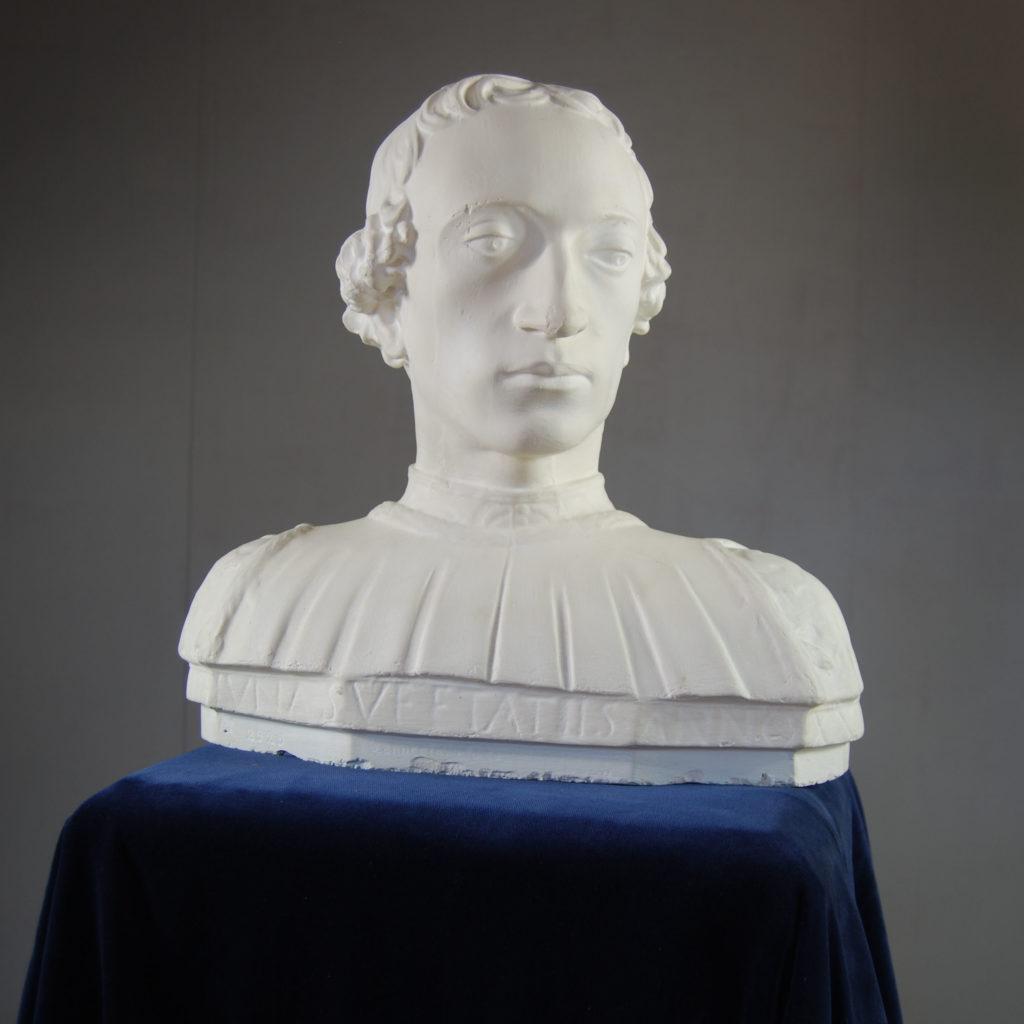 An English plaster bust of Rinaldo della Luna-0