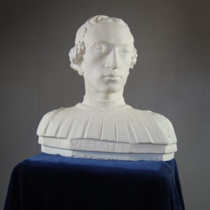 An English plaster bust of Rinaldo della Luna-0