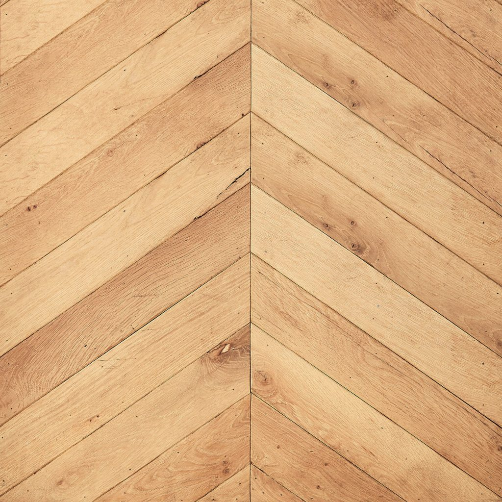 Carpathian oak chevron parquet