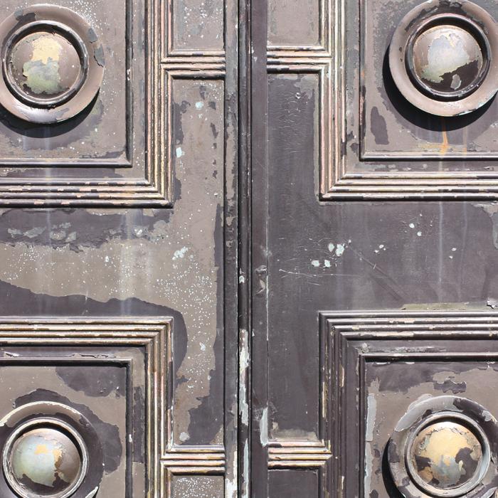 A pair of English bronze doors,-131610