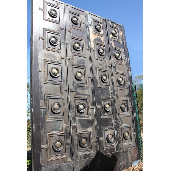 A pair of English bronze doors,-131609