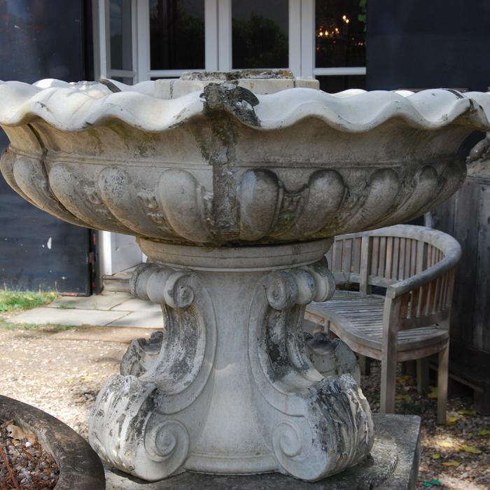 A glazed stoneware fountain bowl-118137