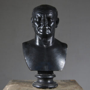 An English plaster bust of the Emperor Vespasian,-0