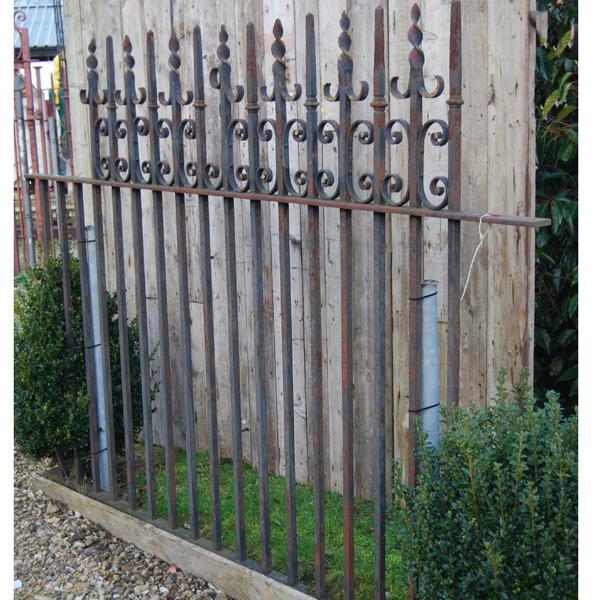 A short run of Victorian wrought iron railing-86874