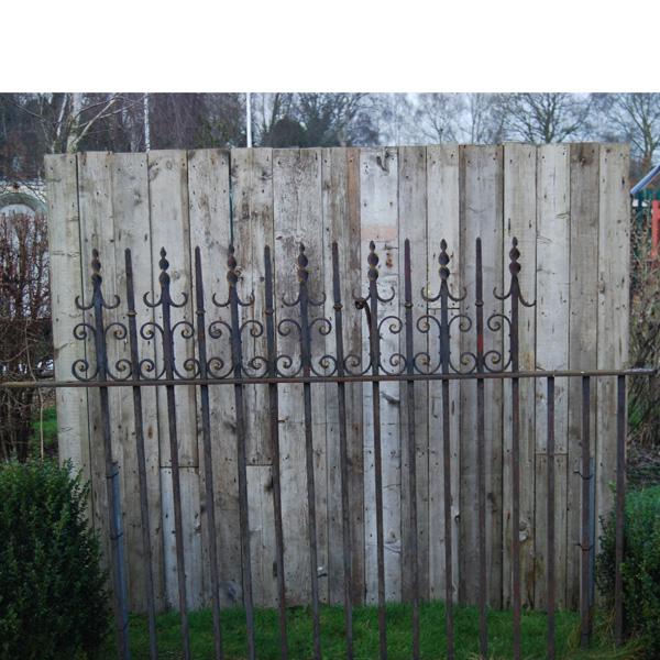 A short run of Victorian wrought iron railing-86876