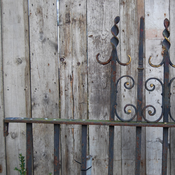 A short run of Victorian wrought iron railing-86875