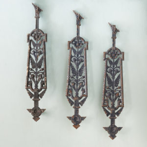 A series of cast-iron Aesthetic Movement staircase spindles-0