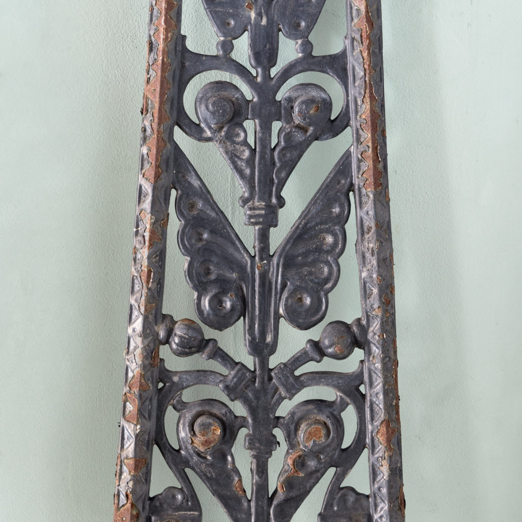 A series of cast-iron Aesthetic Movement staircase spindles-115950
