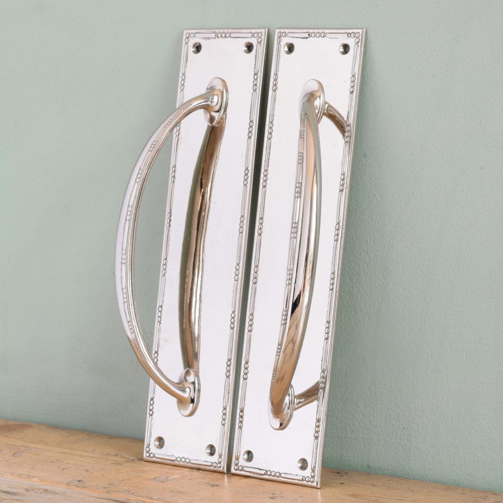 Nickel plated door pulls,-104856