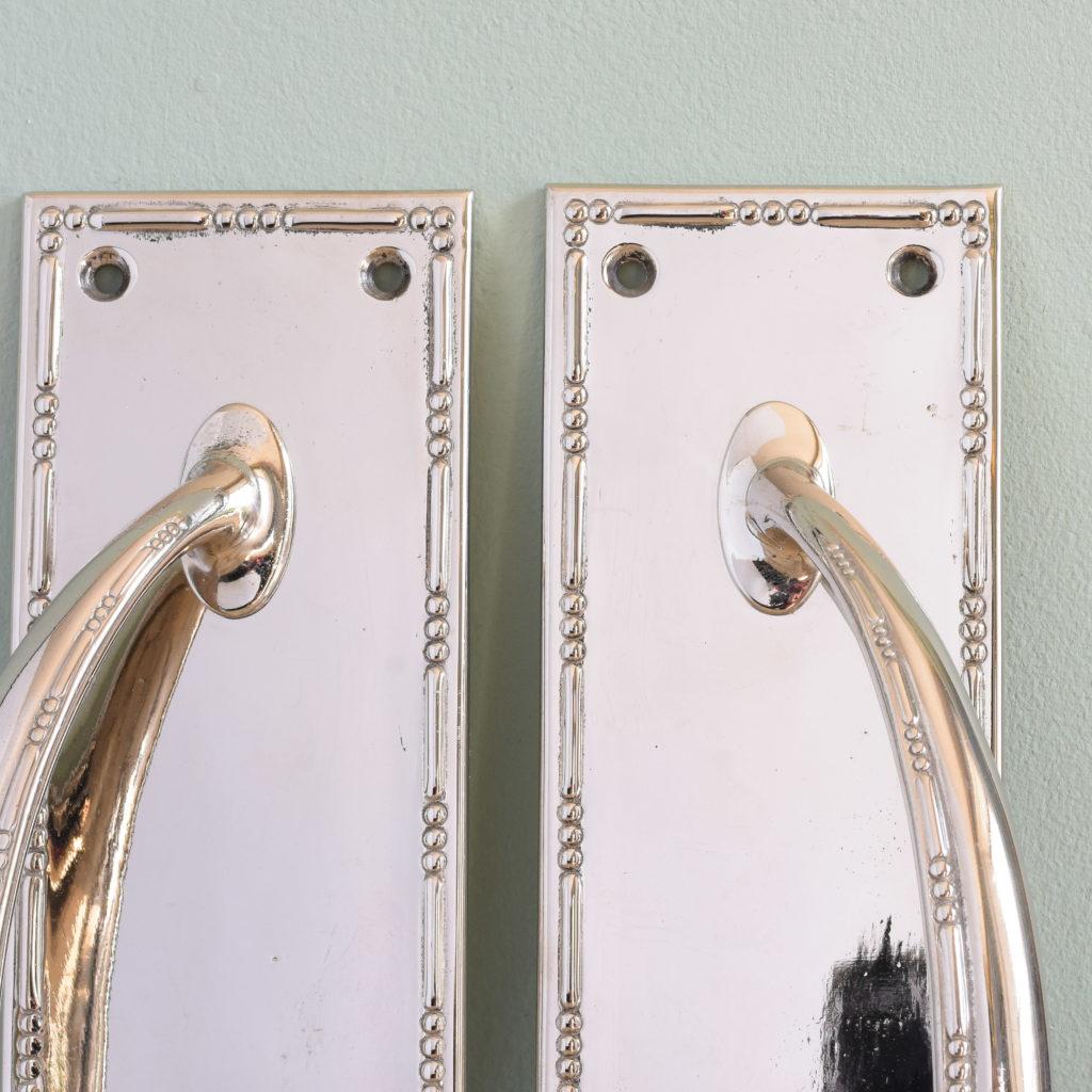 Nickel plated door pulls,-104860