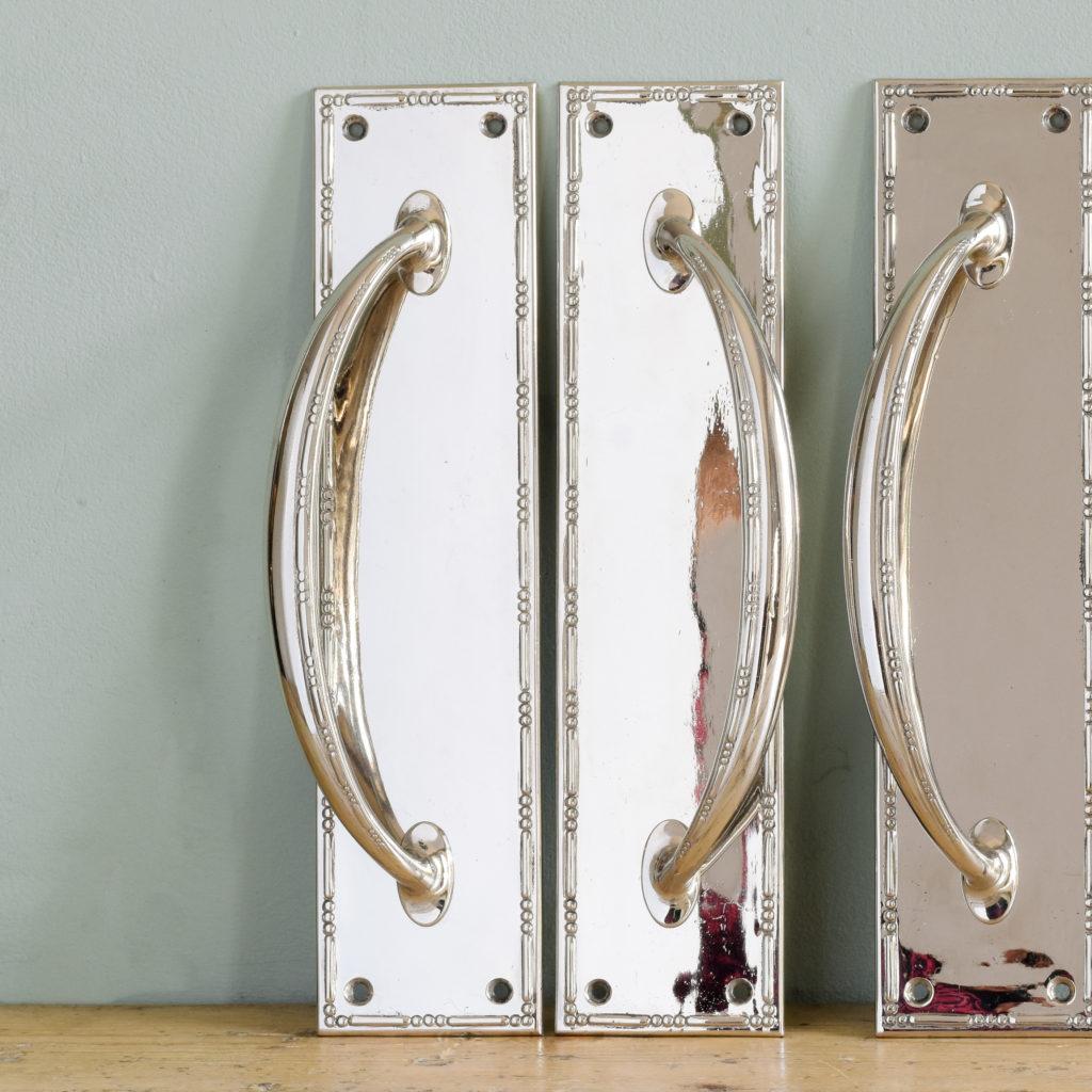 Nickel plated door pulls,-104854