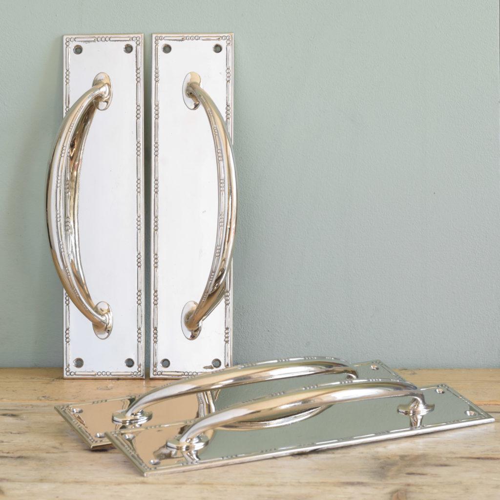Nickel plated door pulls,-0