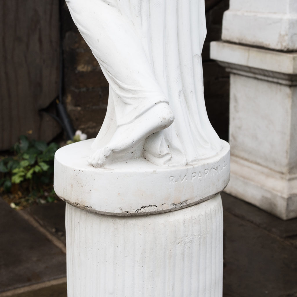 Small Italian reconstituted marble figure of Hebe,-112452