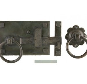 A wrought iron cottage latch-0