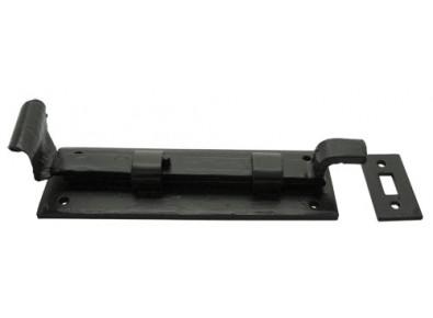A cranked wrought iron door bolt-0