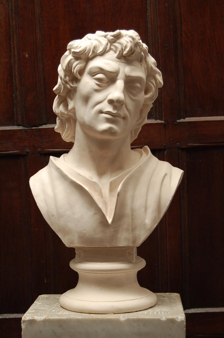 An English plaster bust of a Shepherd-0