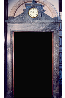 A verde antica and rose siena marble doorcase in the Beaux Arts taste-0