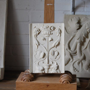 A cast plaster section of ornamental relief-0