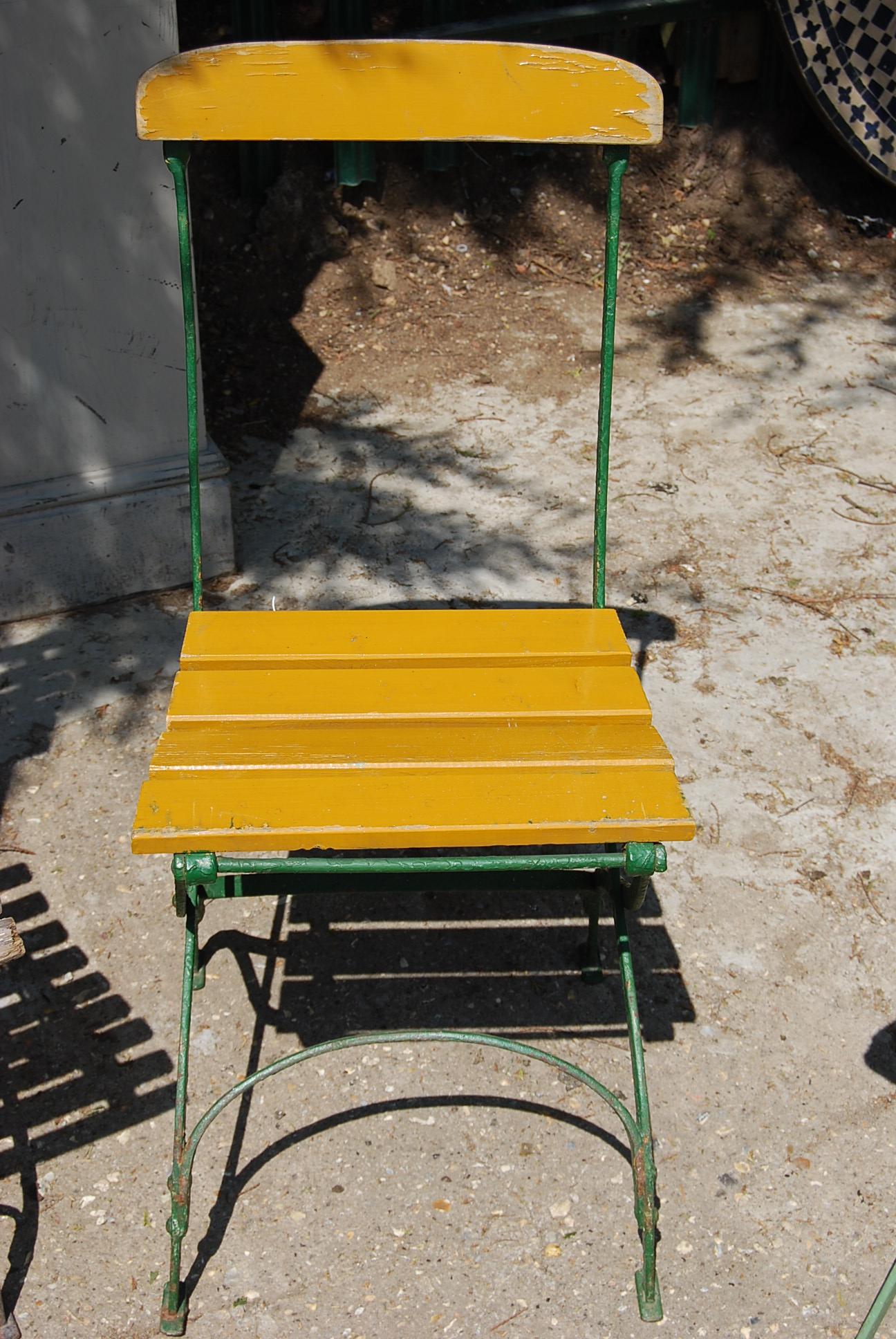 A folding German cafe chair-0