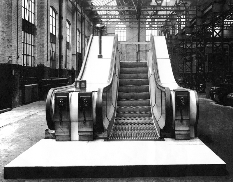 An Art Deco Cast Bronze London Underground escalator uplighter-0
