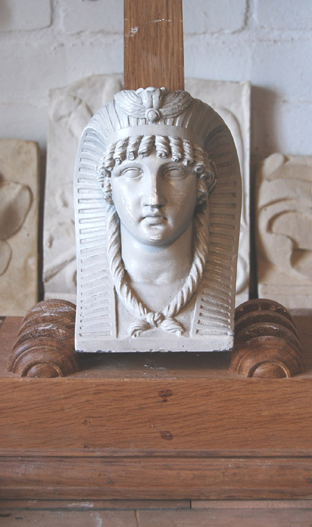 An English relief cast plaster finial-0