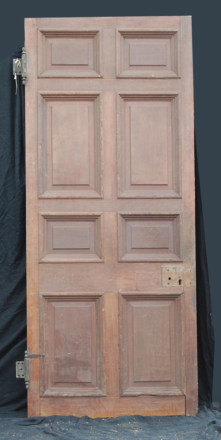 large eight panel oak doors