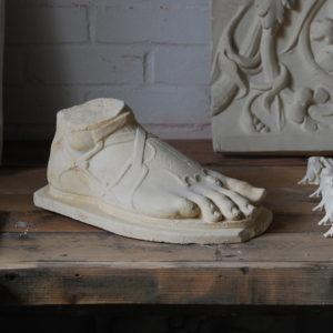 A plaster cast of a classical foot-0
