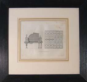 A framed etched print-0