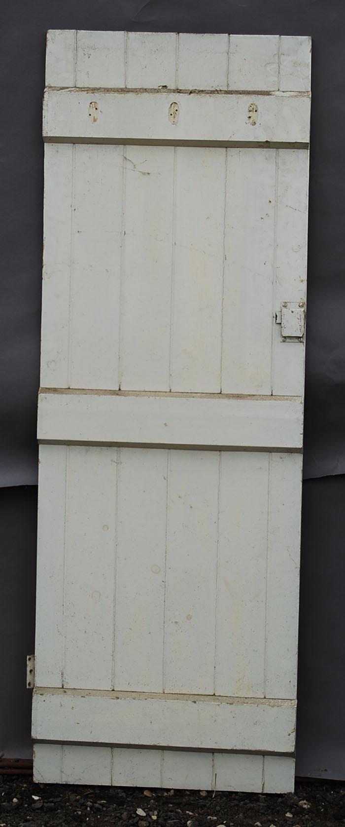 An Edwardian plank pine cupboard door-72213