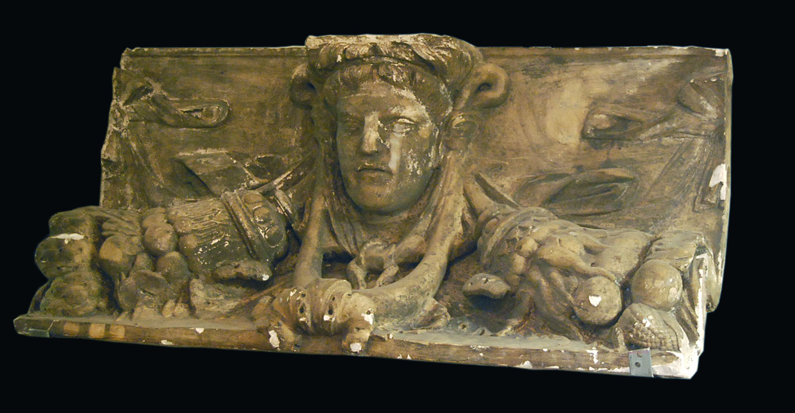 An English plaster cast of a section of coved frieze-0