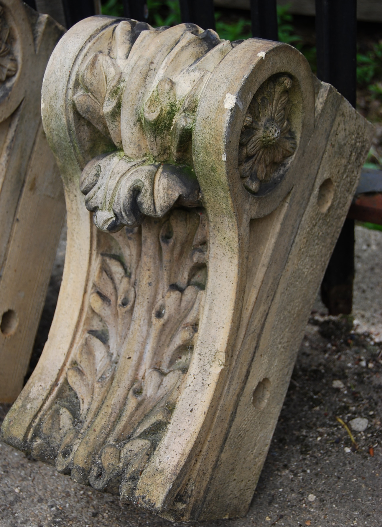 One of a large quantity of mid Victorian stoneware corbels by Joseph Cliff and Sons, Wortley, Leeds (some stamped)-0