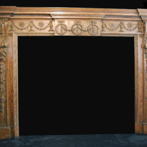 A very fine early George III carved pine chimneypiece-0