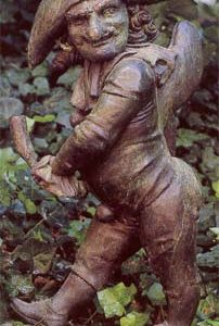 """An English bronze figure of """"Mr Punch""""-0"""