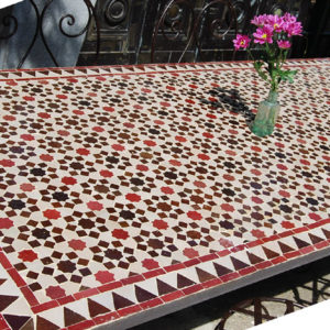A Moorish mosaic topped dining table-0