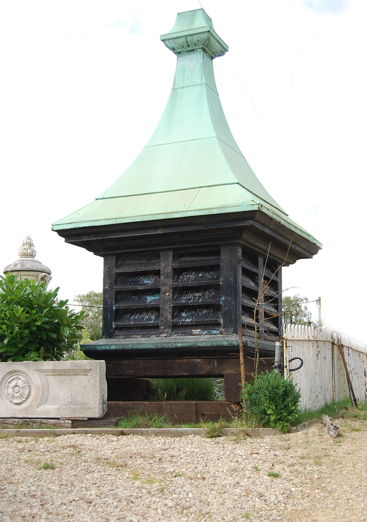 An impressive oak and pine cupola-0