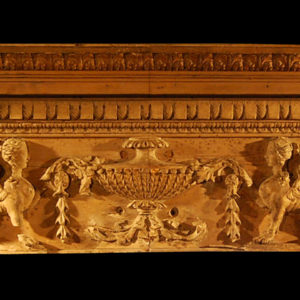 A superb, finely carved George III carved pine and limewood overdoor frieze-0