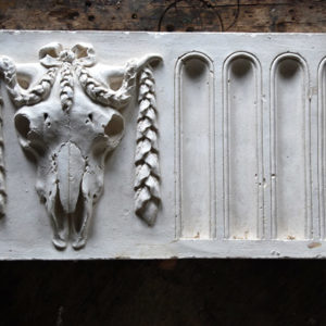 An English relief cast plaster bucranium frieze panel-0