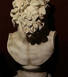 A composition stone bust of Laocoon-0