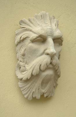A composition stone fountain mask of Father Thames-0