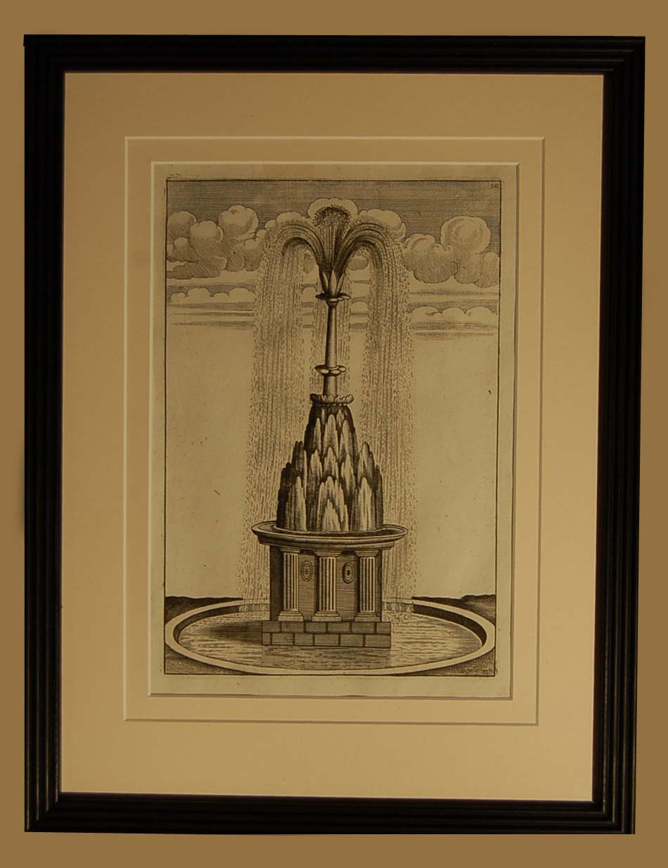 A set of eight Dutch prints of fantastical fountains-64752