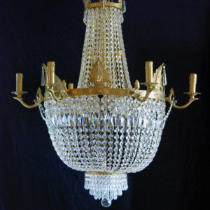 A large Empire style tent and bag chandelier-0