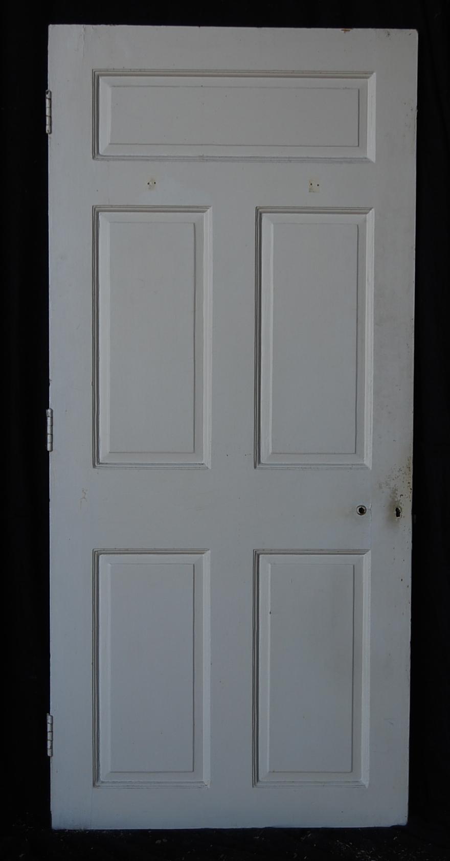 A white painted five panel oak door-66667